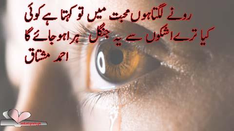 ronay lagta hoon muhabbat main tu - ahmad mushtaq poetry in urdu - besturdupoetry.pk