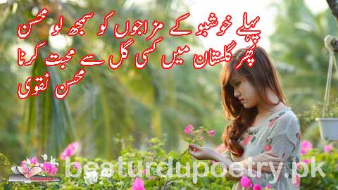 pehlay khushboo kay mazajon ko samajh lo mohsin - besturdupoetry.pk