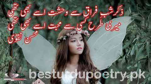 zikar e shab e faraq say wehshit issay bhi thi - besturdupoetry.pk