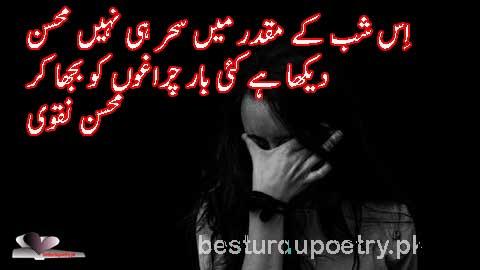 iss shub ky moqdar main shr hi nahi - mohsin naqvi poetry in urdu - besturdupoetry.pk