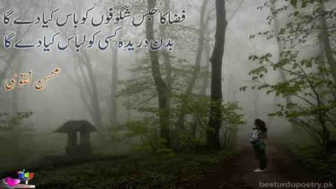 fiza ka habs shagofon ko baas kiya day ga - mohsin naqvi poetry in urdu - besturdupoetry.pk