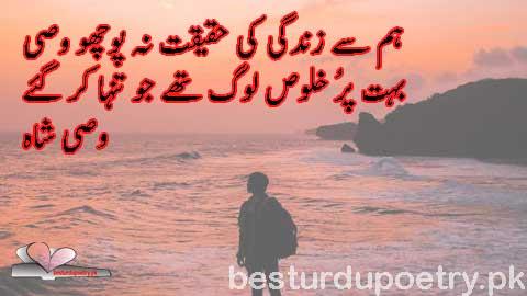 ham say zindagi ki haqeqat na pucho wasi - wasi shah shairi in urdu - besturdupoetry.pk