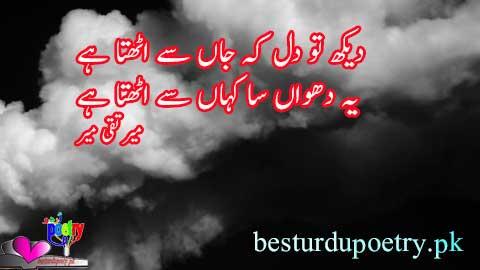 dekh tu dil kay jan say uthta hay - mir taqi mir poetry in urdu - besturdupoetry.pk