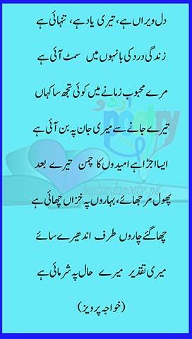 dil a veeran hai teri yaad hai ghazal lyrics in urdu - besturdupoetry.pk