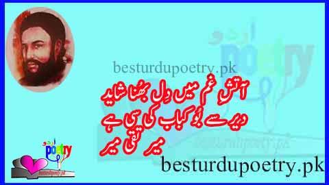 aaitis e gham main dil bhuna shayad