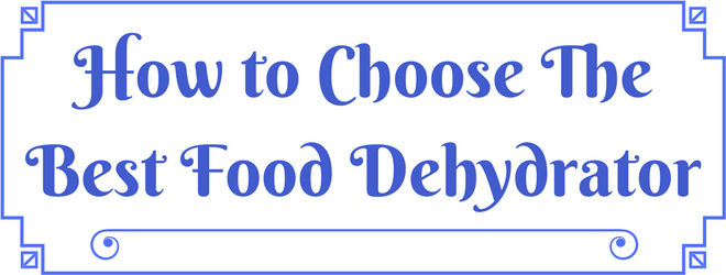 How to Choose The Best Food Dehydrator