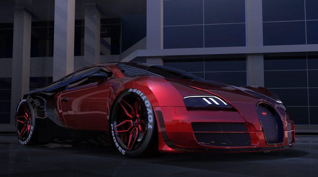 Deadpool Bugatti Veyron Car 4k Wallpaper  Best Wallpapers