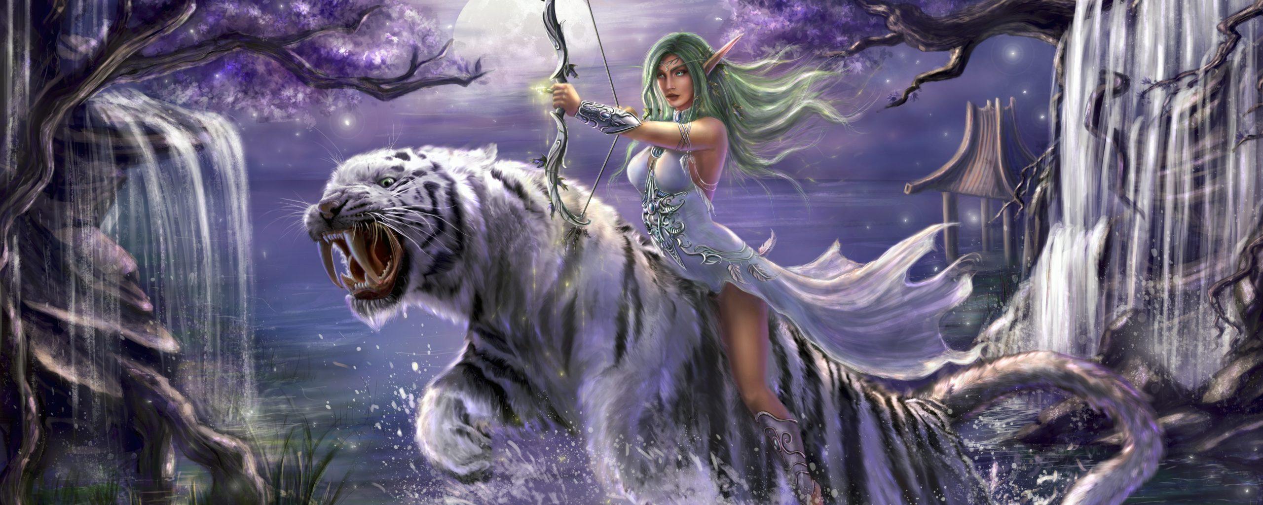 Dual Monitor Girl Wallpaper Tyrande Whisperwind World Of Warcraft 5k Wallpaper Best