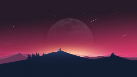 4k minimal wolf moon howling wallpapers