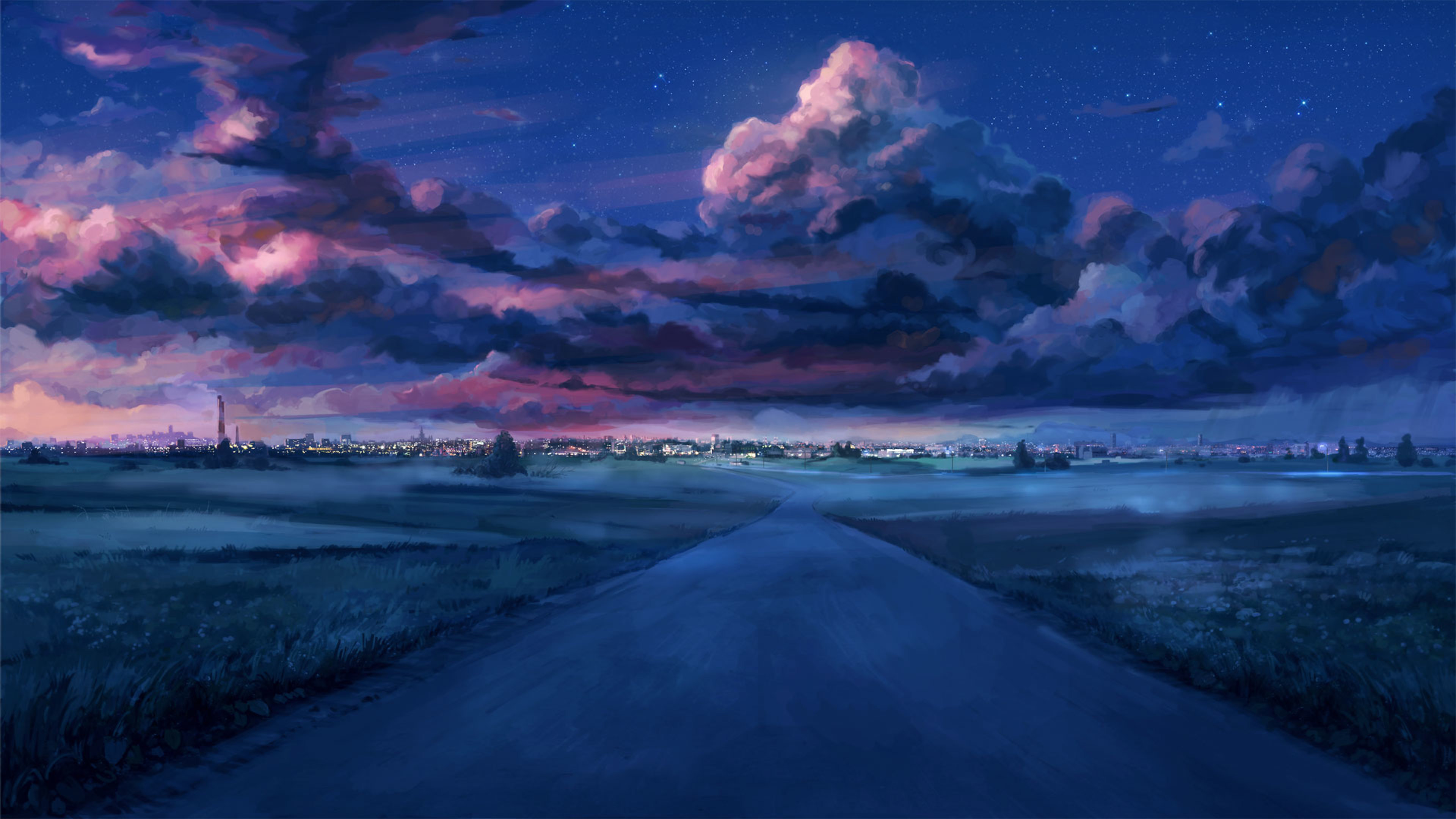 Anime 1080p, 2k, 4k, 5k hd wallpapers free download, these wallpapers are free download for pc, laptop, iphone, android phone and ipad desktop. Anime Night Scenery 4K Wallpaper - Best Wallpapers