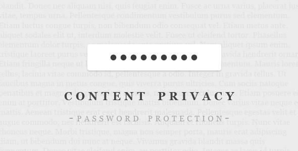 Password-Protect Your WordPress Content — BestWebSoft