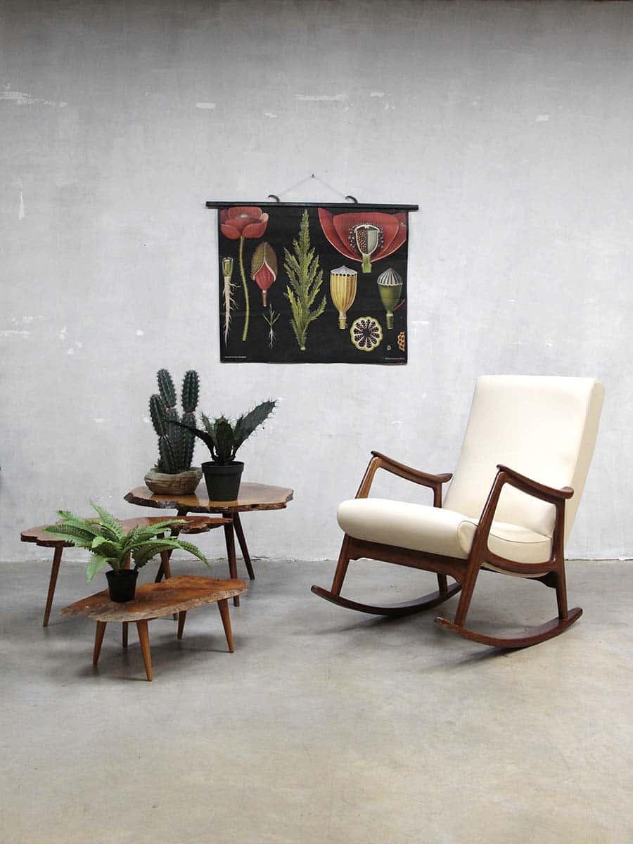 vintage rocking chair Webe Louis van Teeffelen schommelstoel