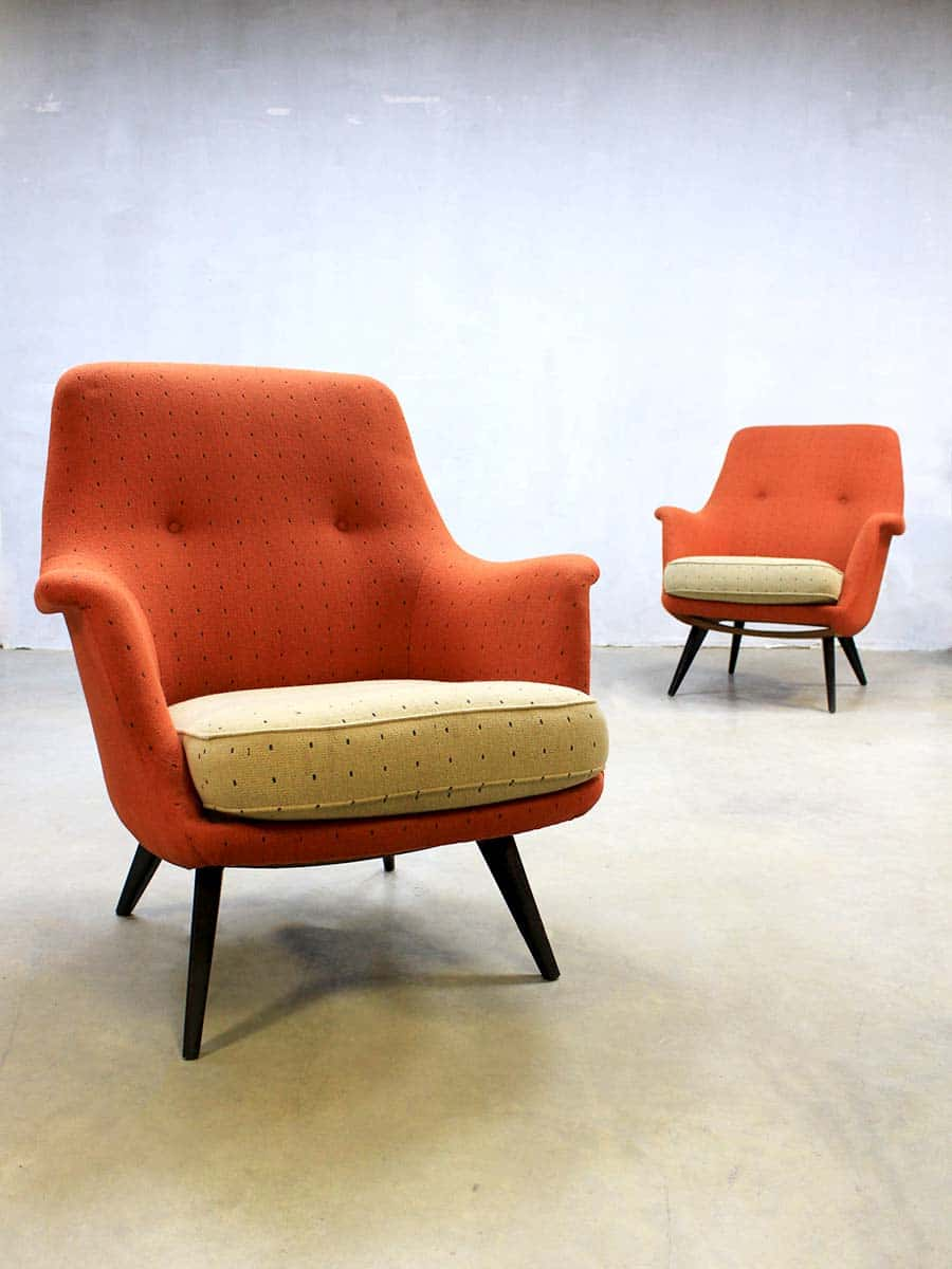 Vintage design lounge chairs  sofa mid century vintage