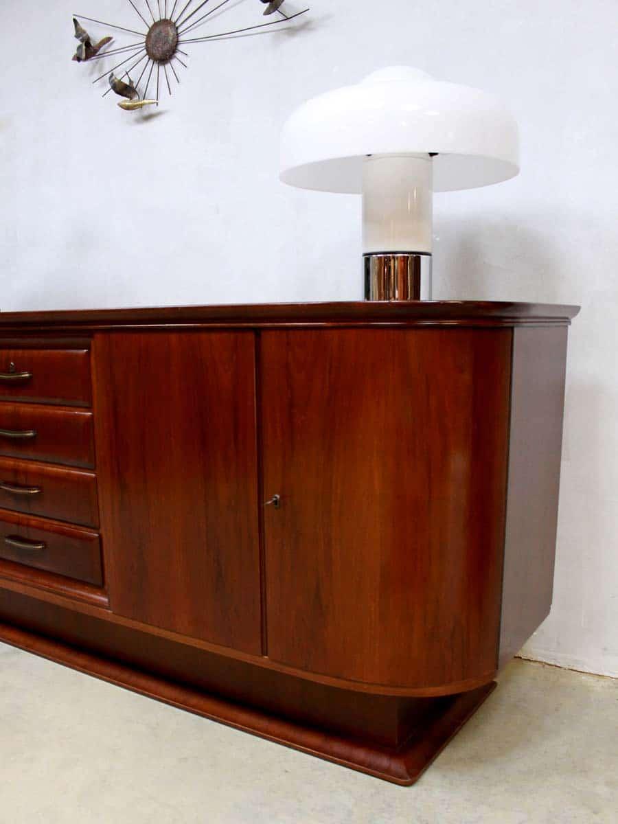 Vintage Art deco dressoir sideboard buffet mid century
