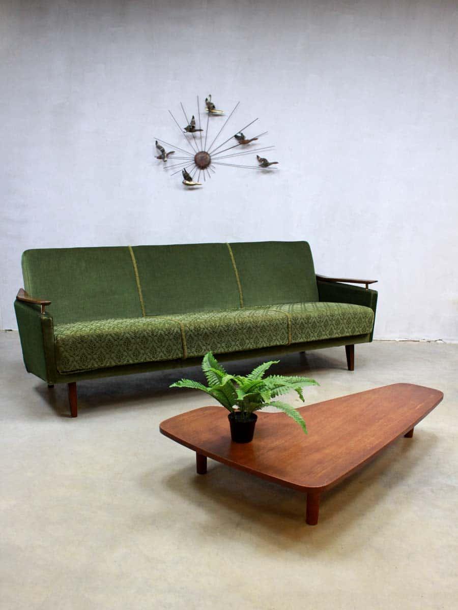 Vintage velours lounge bank fifties vintage velvet sofa