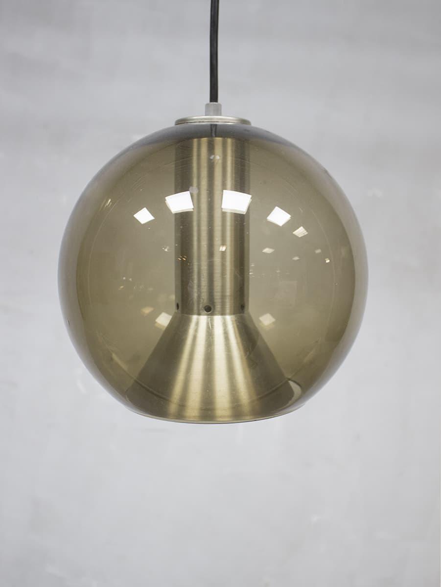 Vintage glazen globe lamp Raak Frank Ligtelijn dutch design