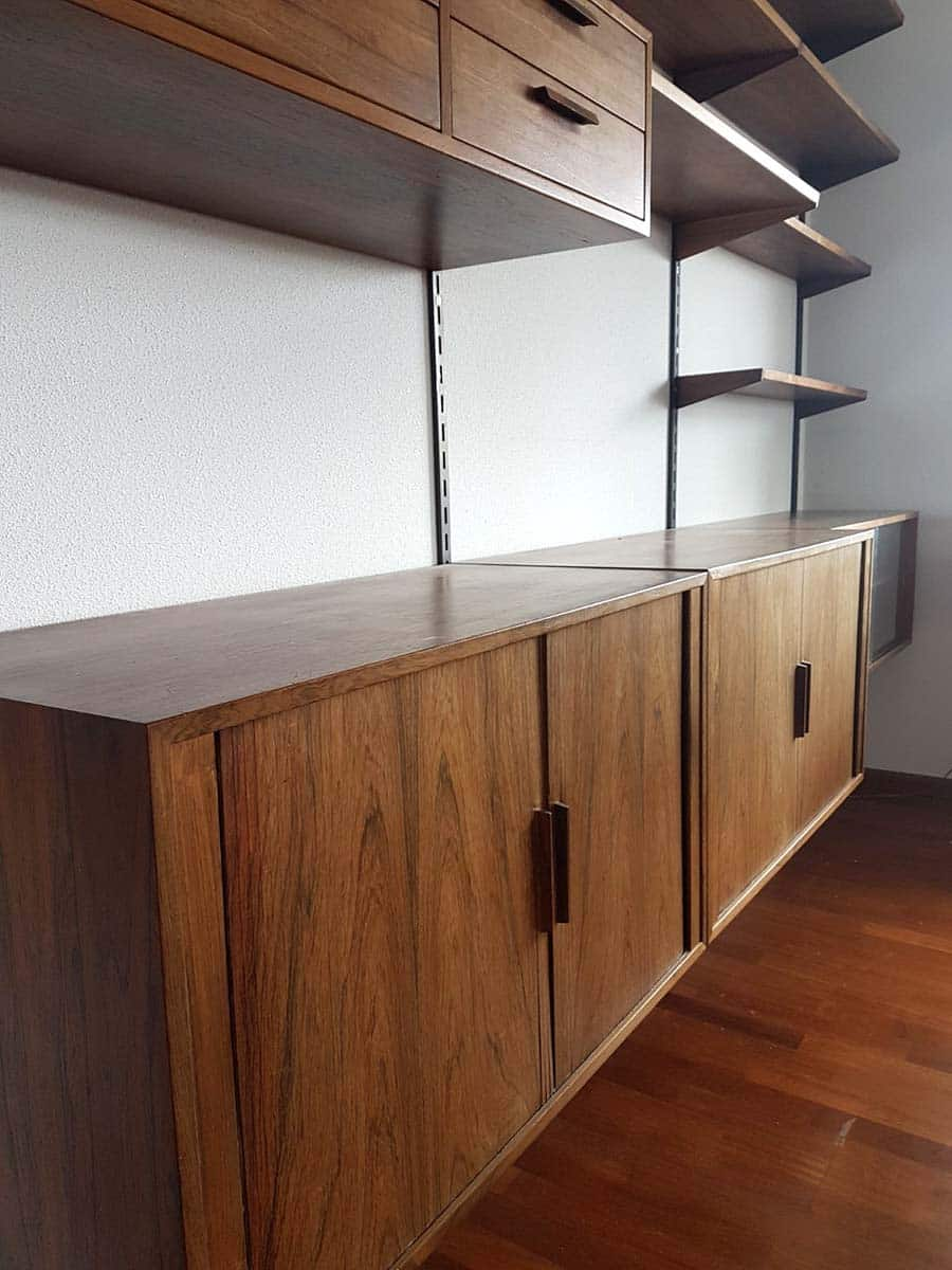 Modulair vintage wandsysteem wall unit Kai Kristiansen FM