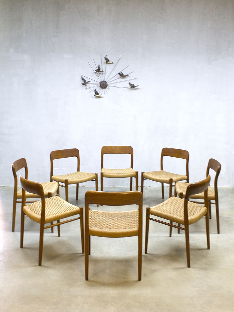 Model No75 dining chairs eetkamer stoelen Niels O Mller