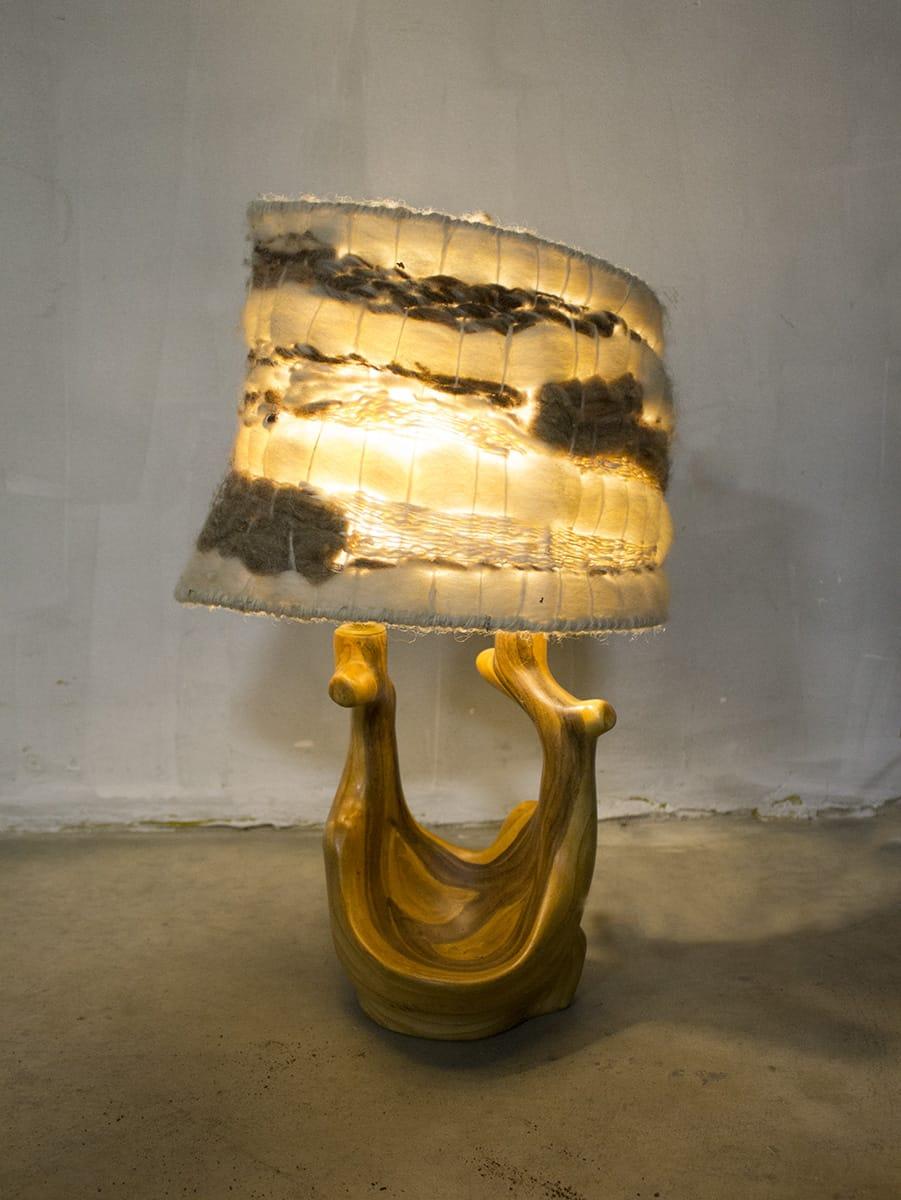Italian vintage nature lamp organic table lamp ceramic