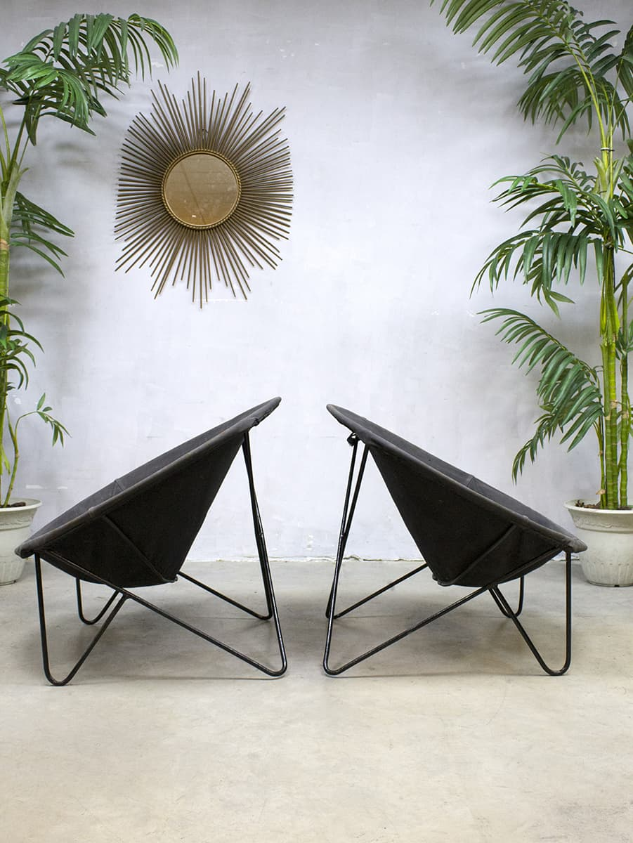 Midcentury vintage design basket chair balloon chairs