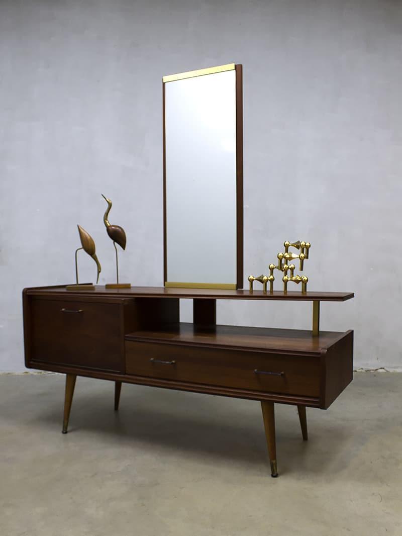 Vintage Asymmetric dressing table vanity table sixties