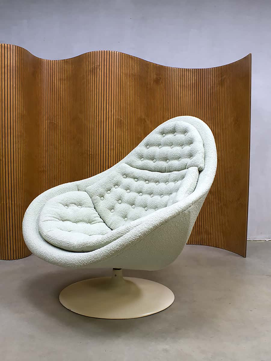 Vintage swivel chair midcentury modern draaifauteuil Artifort