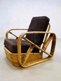 Vintage Rattan Bamboo Chair Rotan Bamboe Lounge Fauteuil