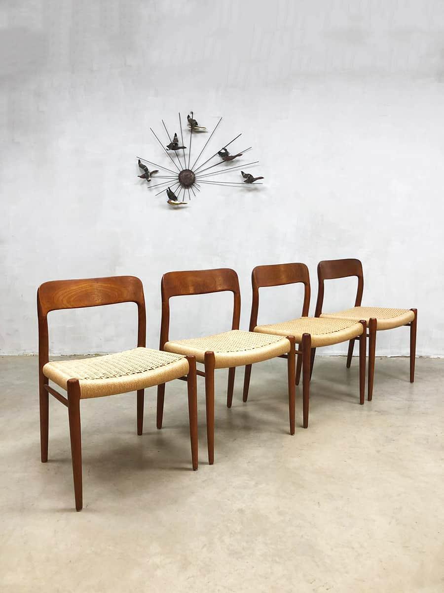 midcentury modern dining chairs Niels O Mller eetkamerstoelen