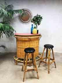 Vintage Bamboo Rattan Tiki Bar Bamboe Rotan Cocktail