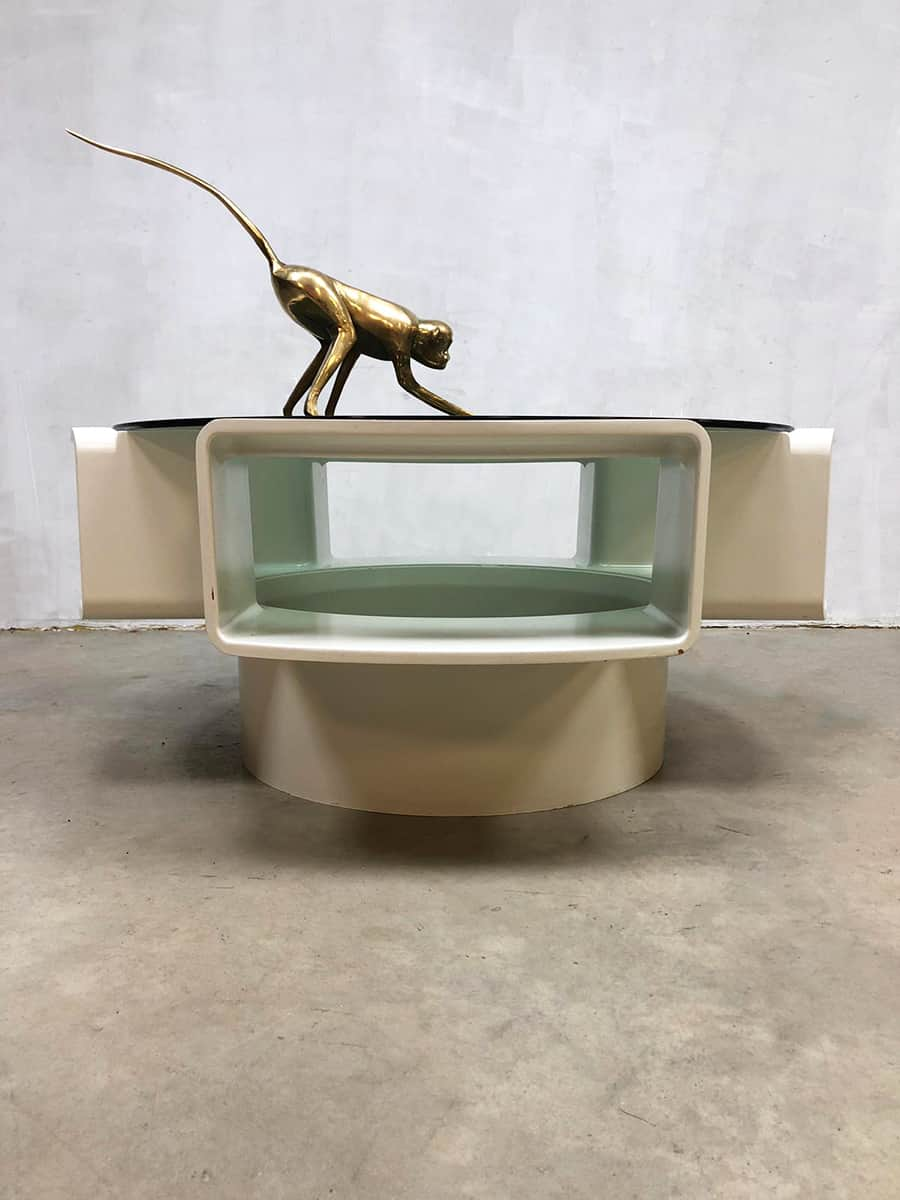 Vintage coffee table Jean Maneval salontafel Mobilier de