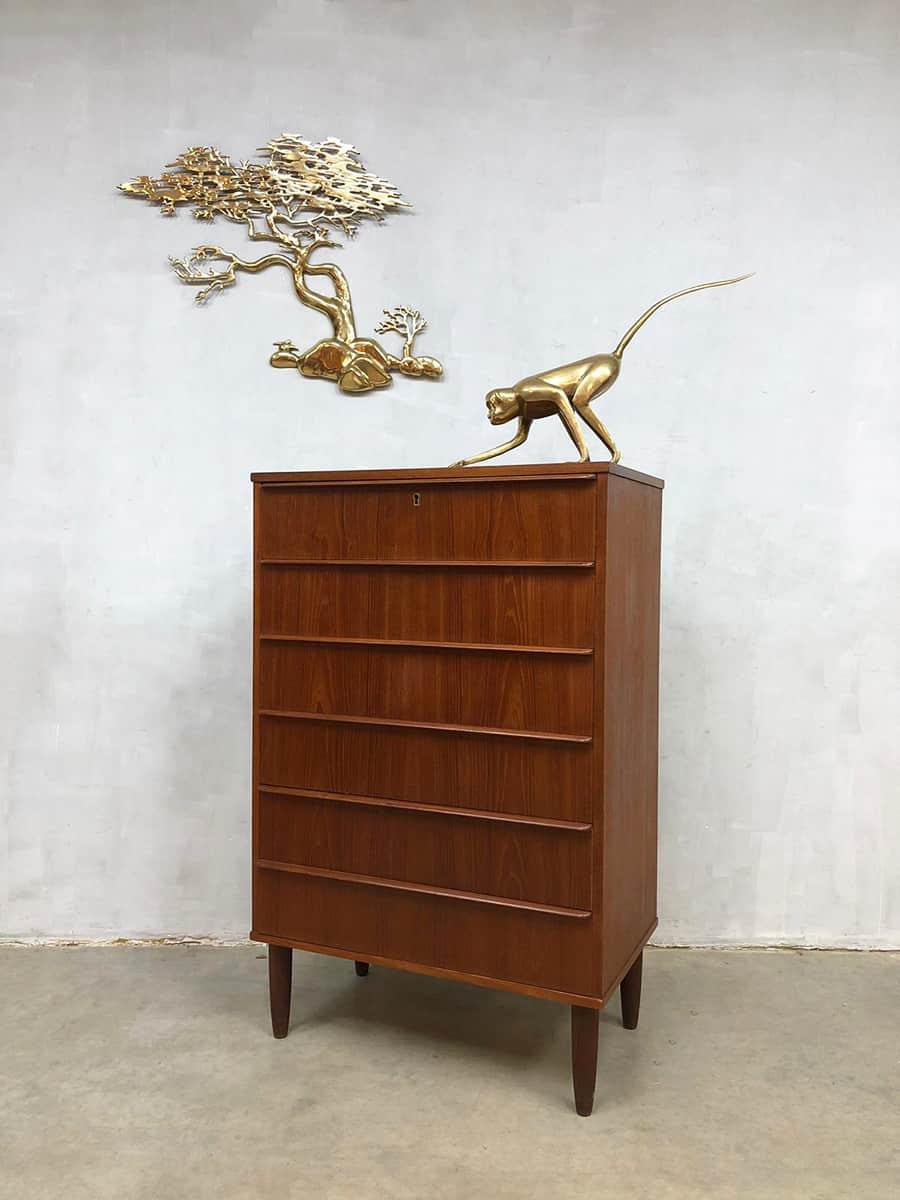 Deense vintage design ladekast Danish chest of drawers