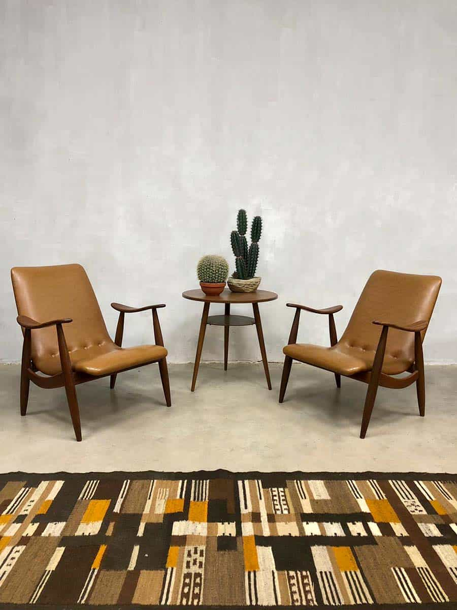 Midcentury vintage design armchair lounge chair Webe Louis