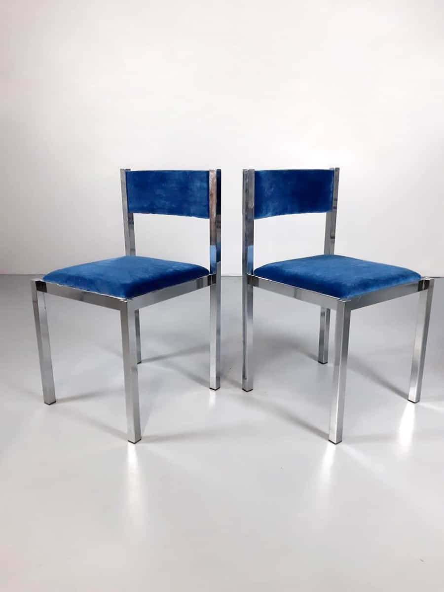 Vintage Italian design dining chairs eetkamerstoelen Cidue