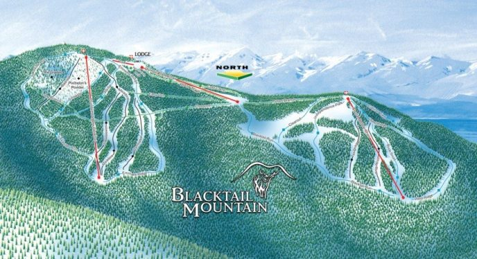 Blacktail mountain lakeside montana, ski resorts whitefish