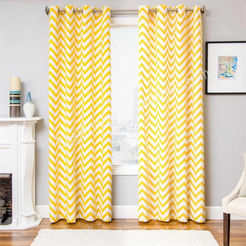 Zenn Chevron Curtain Drapery Panels