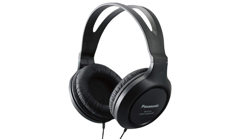 Panasonic Headphones RP-HT161-K Full-Sized Over-the-Ear