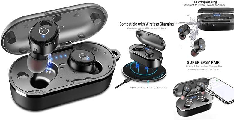 Tozo T10 Bluetooth 5.0 wireless earbuds under $50