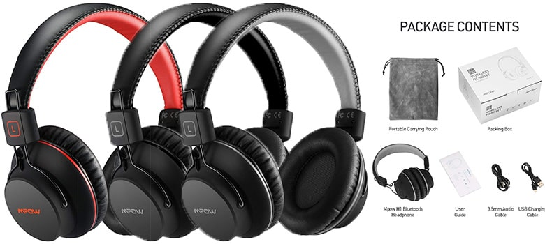 Mpow H1 Bluetooth Headphones Review Cheap Wireless Over Ear Headphone