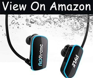 Waterproof MP3 Player with Earbuds -  Earphones