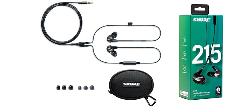 Shure SE215-K-UNI Sound Isolating Earphones