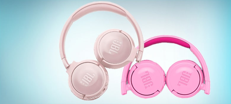 Pink Wireless Bluetooth Headphones with Mic