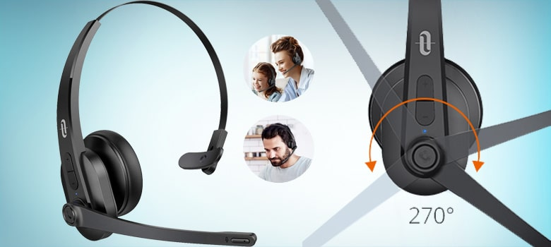 bluetooth trucker headset with microphone