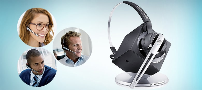 Best Call Center Headset - Wireless Office Headset with Microphone