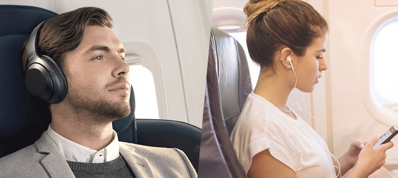 Earbuds vs Headphones Which is best for Traveling