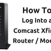 How To Log Into A Comcast Xfinity Router Modem