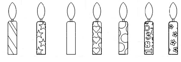 Birthday Candle Drawing