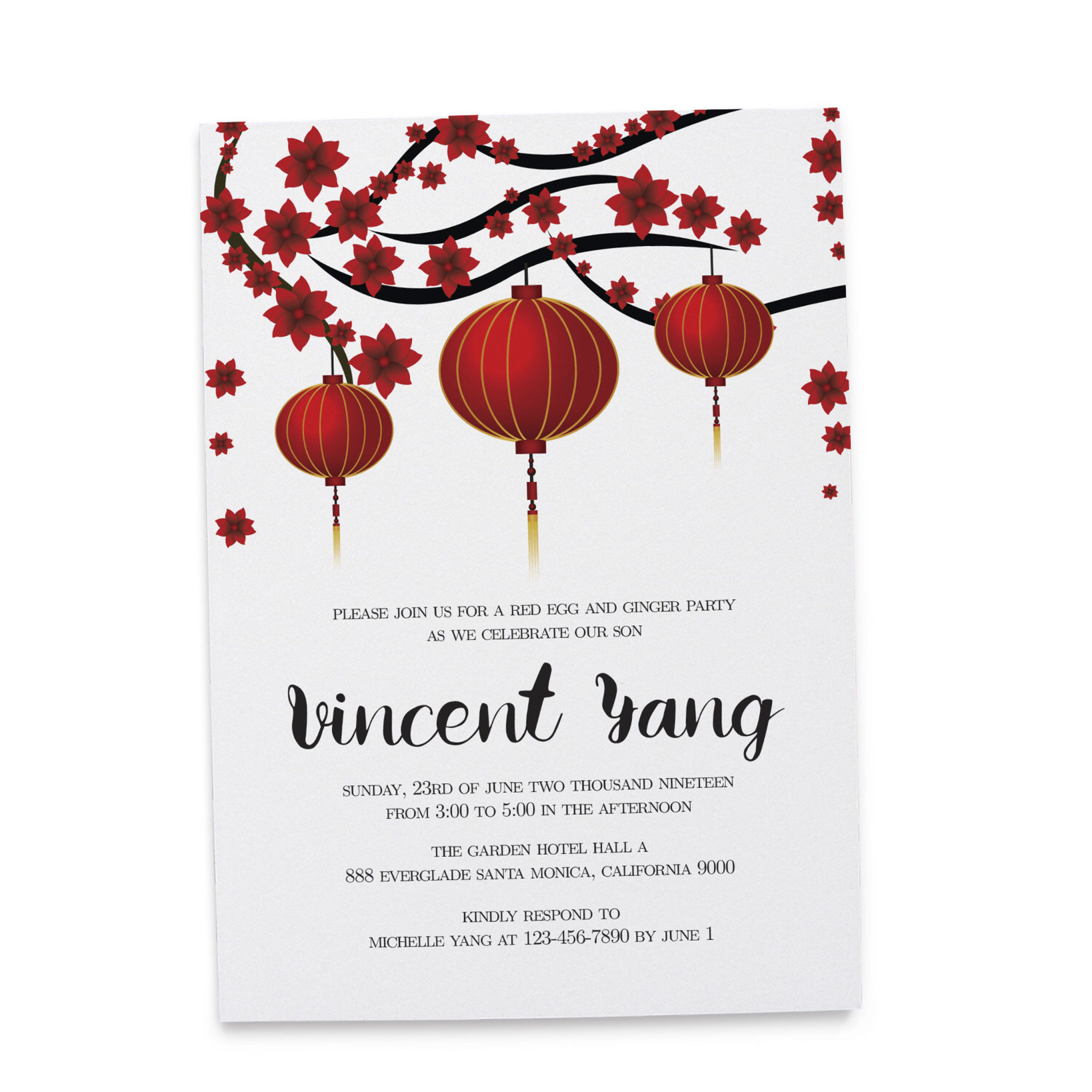 chinese birthday invitations with lucky