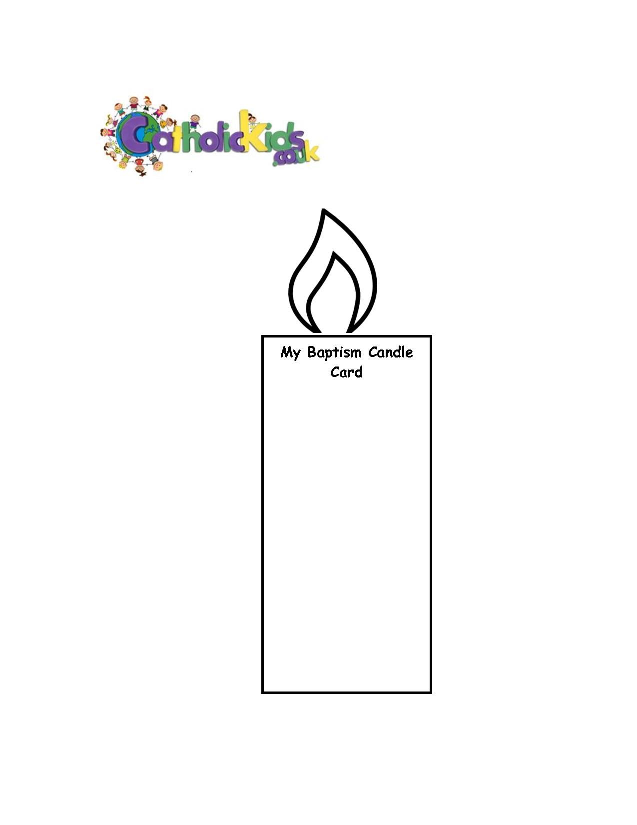 Printable Birthday Candles Template