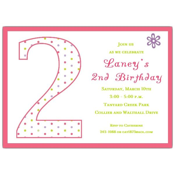 2nd birthday party invitation wording