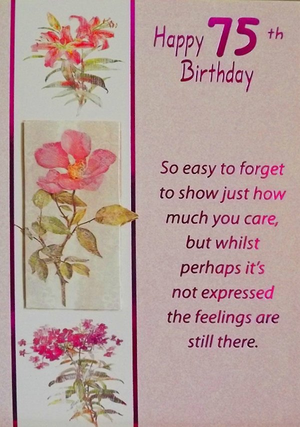 75th Birthday Greeting Cards Happy Wishes